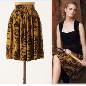 Anthropologie Sariah Calligraphy Skirt